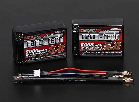 Turnigy nano-tech 5000mAh 2S3P 30 ~ 60C Hardcase Saddle Lipo Pack (ROAR APPROUVÉ)