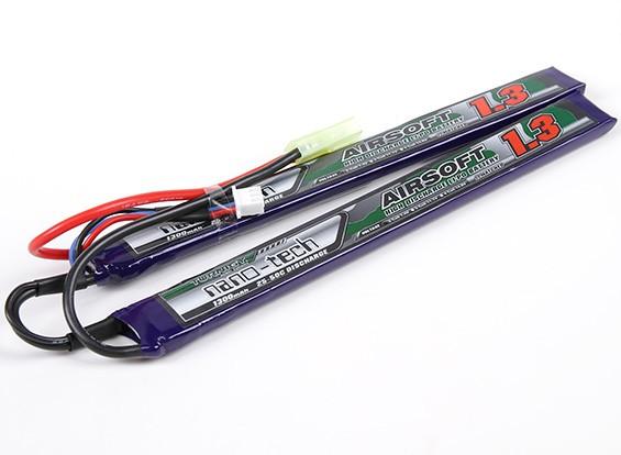 Turnigy nano-tech 1300mah 2S 25 ~ 50C Lipo AIRSOFT Paquet