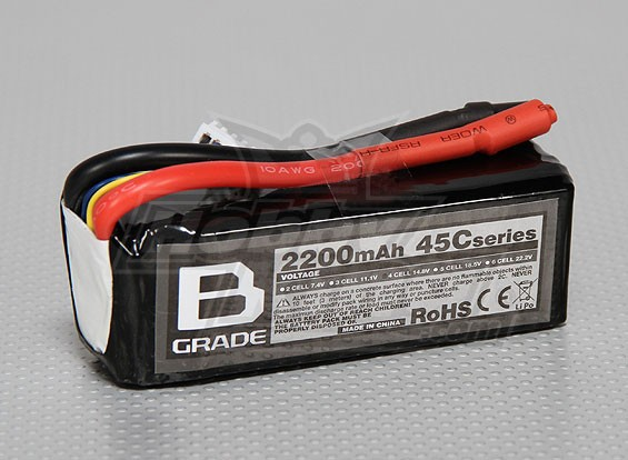Batterie B-Grade 2200mAh 4S 45C Lipoly