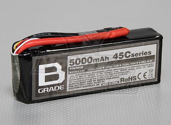 Batterie B-Grade 5000mAh 3S 45C Lipoly