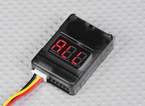 HobbyKing ™ Mobile Checker avec alarme basse tension (2S-8S)