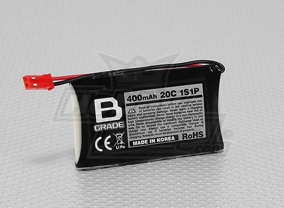 Batterie B-Grade 400mAh 1S 20C Lipoly