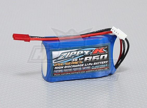 Batterie Zippy-K FlightMax 860mAh 3S1P 25C Lipoly