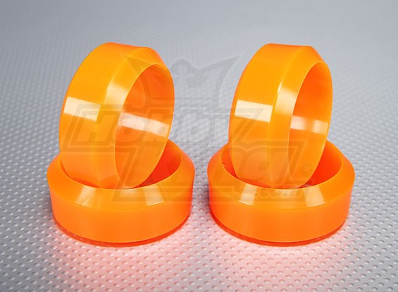 Échelle 1:10 en plastique dur Drift Tire Set Neon orange RC 26mm de voiture (4pcs / set)