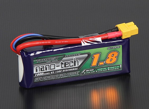 Turnigy nano-tech 1800mah 2S 65C ~ 130C Lipo Paquet