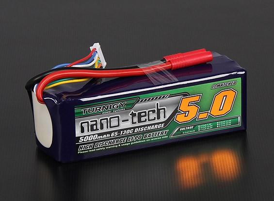 Turnigy nano-tech 5000mAh 6S 65 ~ 130C Lipo Paquet