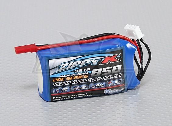Batterie Zippy-K FlightMax 850mAh 3S1P 20C Lipoly