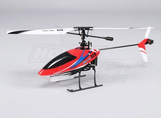 Solo Pro 328 4CH fixe Hélicoptère Pas - Rouge (RTF)