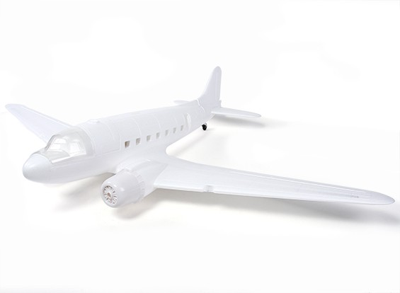 HobbyKing ™ C-47 / DC-3 EPO Blanc 1600mm (Kit)