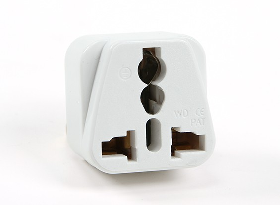 Turnigy WD-010 Fused 13 Amp alimentation secteur multi Adaptateur-Blanc (Inde Plug)