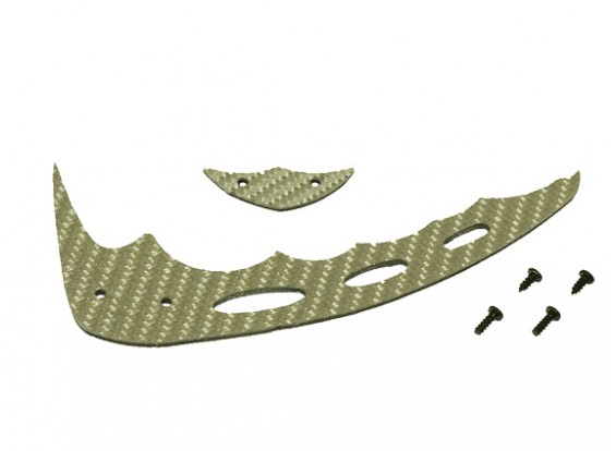 Gaui 100 & 200 Taille CF Fin Silver & Tail C-Type (203605)