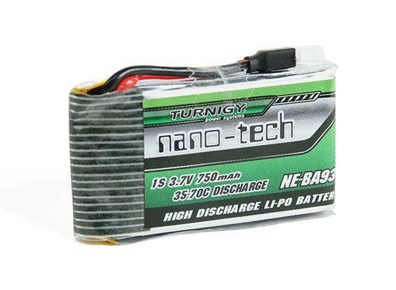 Turnigy nano-tech 750mah 1S 35 ~ 70C Lipo Pack (Convient Nine Eagles Solo Pro-180)