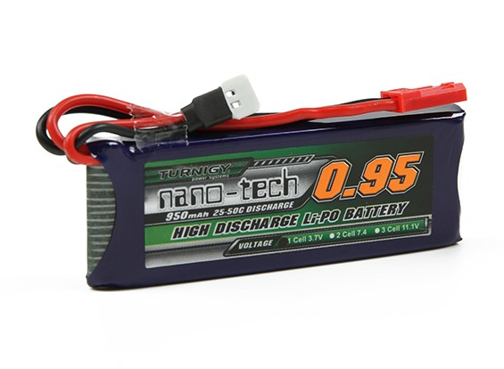 Turnigy nano-tech 950mah 1S 25 ~ 50C Lipo Pack (Walkera V120, X100)