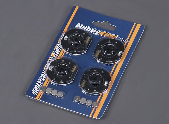Feux de roue LED pour RC Drift Car - Orange (4pcs)