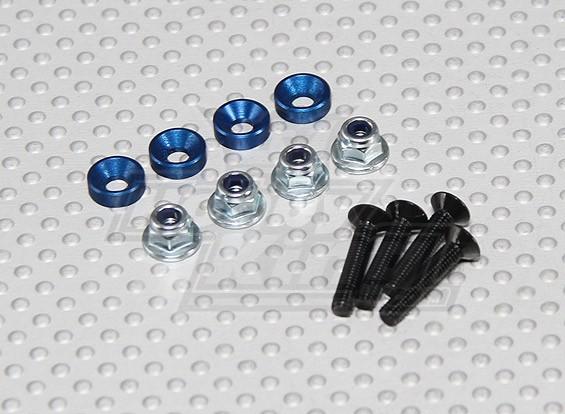 Couleur Servo Vis de montage Set (bleu)