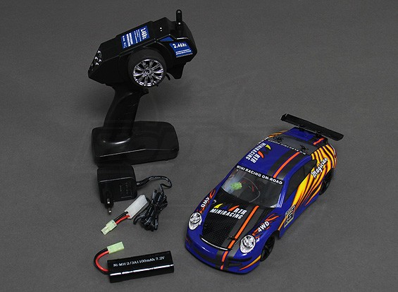 1/18 4RM RTR On-Road Drift Car (bleu)