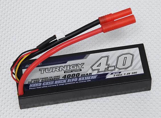 Pack Turnigy 2S 4000mAh 30C hardcase (ROAR APPROUVÉ) (DE Entrepôt)