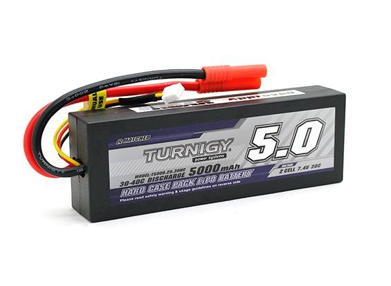 Turnigy 5000mAh 2S1P 7.4v 30C Hardcase Pack (ROAR APPROUVÉ) (DE Entrepôt)