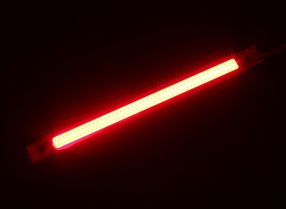 Light Strip alliage 3W LED rouge 120mm x 10mm (2S-3S Compatible)