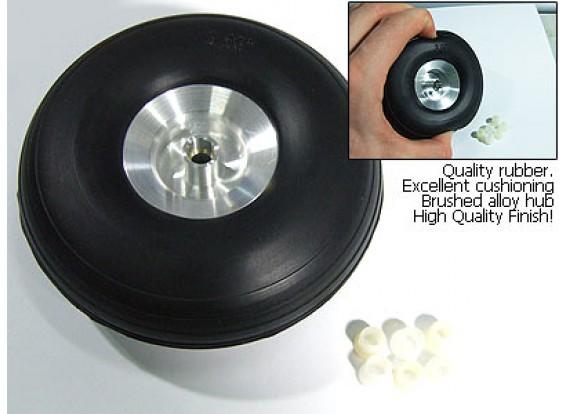 Échelle 3.25inch de roue en caoutchouc de moyeu en alliage (1 pc)