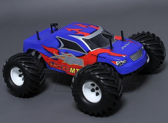 1/10 MG10 MT3 4WD .18 Nitro Monster Truck - Bleu (ARR)