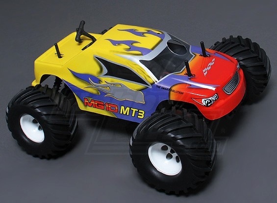 1/10 MG10 MT3 4WD .18 Nitro Monster Truck - Jaune (ARR)