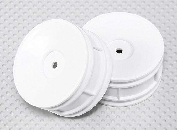 Échelle 1:10 Wheel Set (2pcs) Blanc Dish style RC 26mm de voitures (pas de décalage)