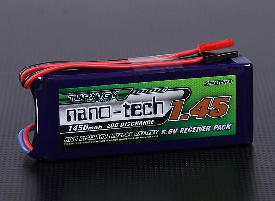 Turnigy nano-tech 1450mAh 2S1P 20 ~ 40C LiFePo4 Receiver Paquet