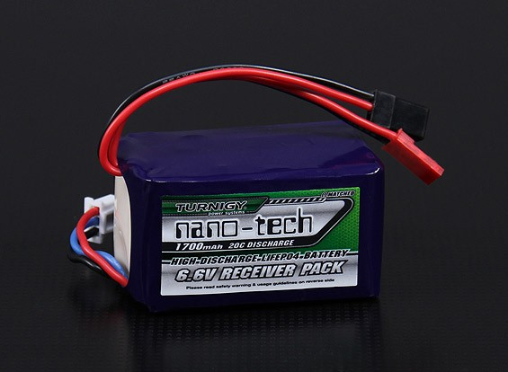 Turnigy nano-tech 1700mAh 2S2P 20 ~ 40C LiFePo4 Receiver Paquet