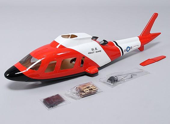 Agusta A-109 en fibre de verre Fuselage pour 450 taille héli