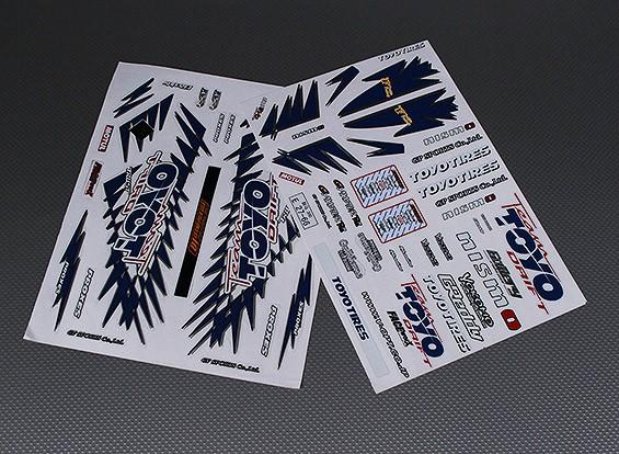 Auto-adhésif Decal Sheet - Toyo 1/10 Échelle