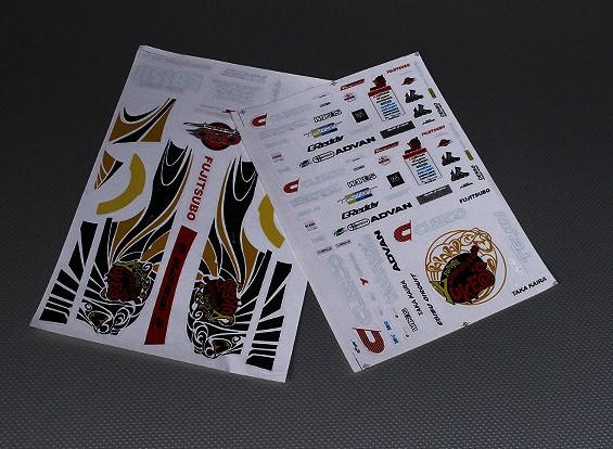 Auto-adhésif Decal Sheet -Yukes 1/10 Échelle