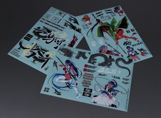 Auto-adhésif Decal Sheet - Bakuretu Gekisin 1/10 Échelle