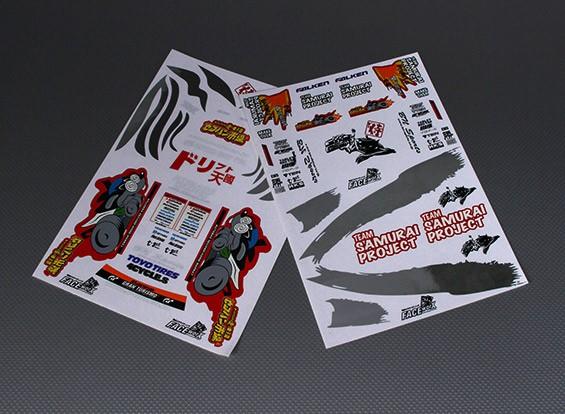 Auto-adhésif Decal Sheet - Team Samurai 1/10 Échelle