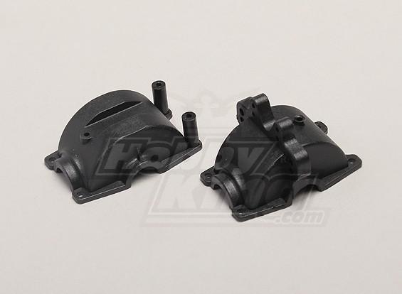 Avant / arrière Gear Box Case - 1/18 4WD RTR On-Road Drift / Short Course / Racing Buggy