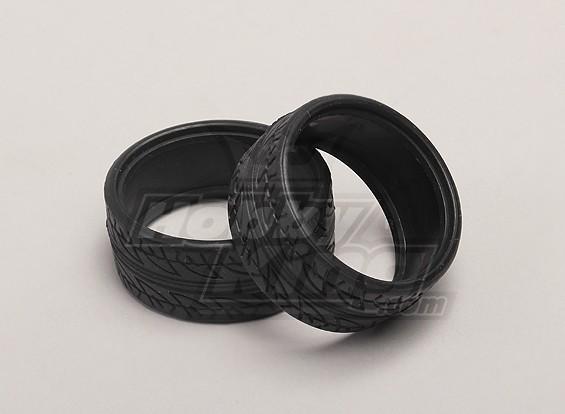 Les pneus (gomme tendre) (2pcs / sac) - 1/18 4WD RTR On-Road Drift Car