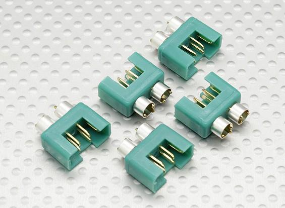 connecteur MPX avec anneau de couleur argent, mâle (5pcs par sac)