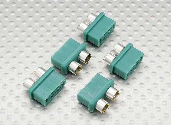connecteur MPX avec anneau de couleur argent, femelle (5pcs par sac)