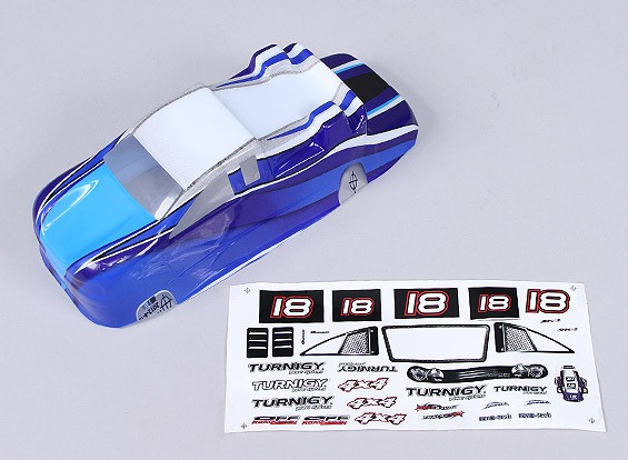 Remplacement Shell w / Decal - 118B (Bleu)