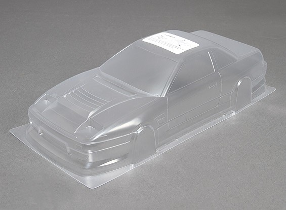 1/10 DM13 Body Shell Unpainted Car w / Stickers