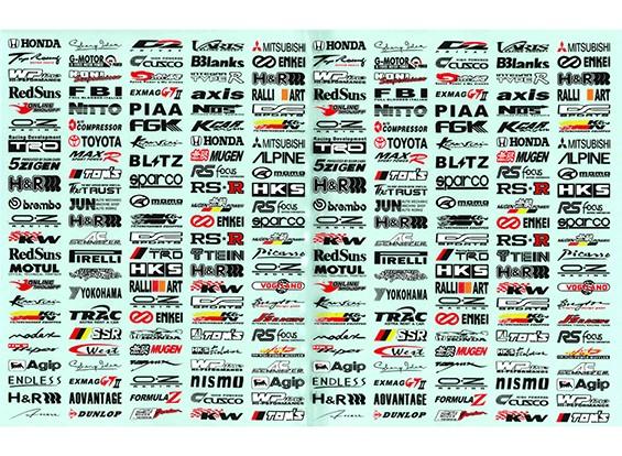 Auto-adhésif Decal Sheet - Décoration logo 1/10 Échelle