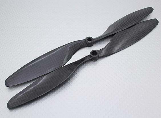 Carbon Fiber Hélice 10x4.5 Noir (CW) (2pcs)