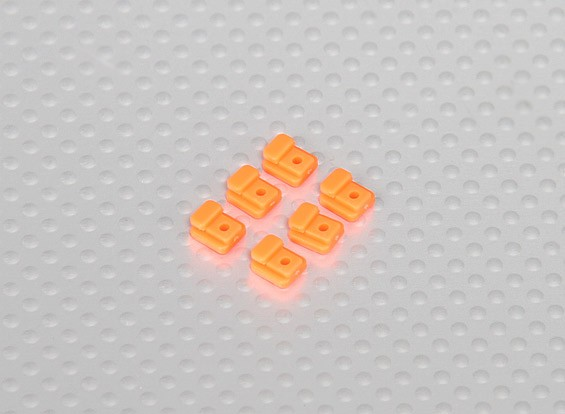 Servo montage Tabs for Hélicoptère Cadre (6pcs / sac) - Orange