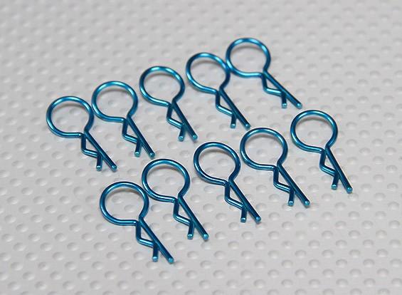 Moyen-ring Body Clips (Bleu) (10Pcs)