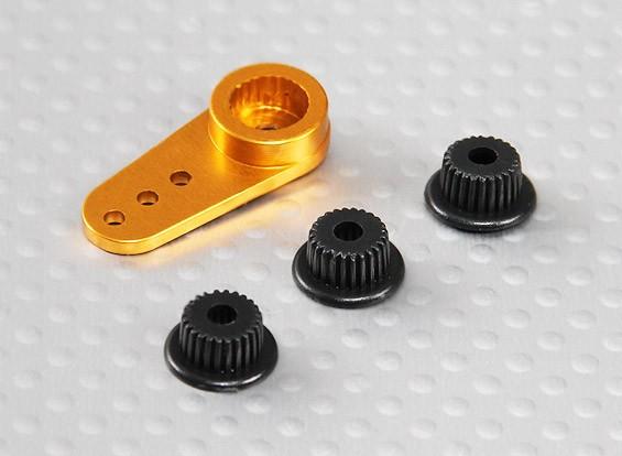 Aluminium One-way Universal Servo Arm - JR, Futaba et HITEC (Golden)