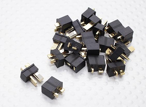 Mini T connecteur noir (10 paires)