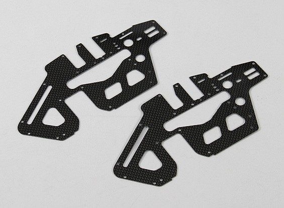 Trex / HK450 PRO 1.2mm Carbon Fiber principal Set Frame Side (2pcs / sac)
