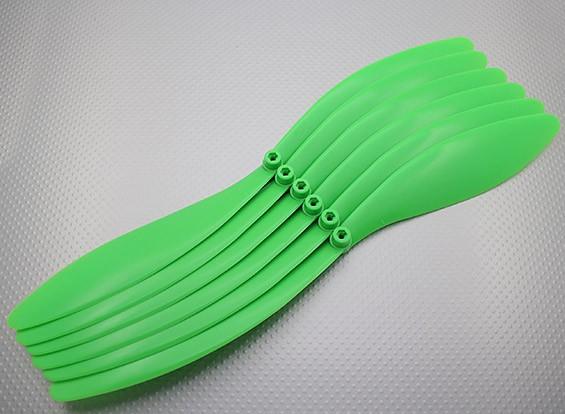 GWS style Hélice 14x10 Green (CCW) (x6)