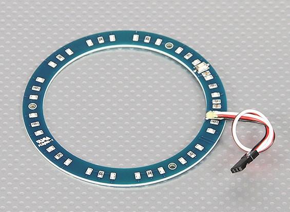 Anneau LED 100mm Rouge w / 10 Modes sélectionnables