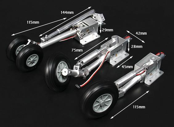 Turnigy Full Metal F-18 Style de grande échelle Servoless Retract avec Pieds Oleo